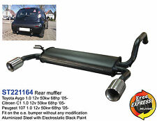 Rear Exhaust Muffler for Toyota Aygo Citroen C1 Peugeot 107 1.0 ST221164