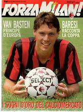 FORZA MILAN!=N°6 1989=VAN BASTEN COVER=RIVERA=BARESI=ANCELOTTI