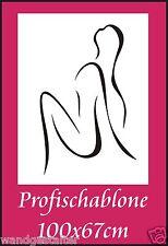Schablone, Wandschablone, Malerschablone, Wandschablonen, Modernart- Frauenakt 2