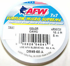 13 LB, AFW MICRO SUPREME 49 STRAND 7X7 COATED-KNOTABLE-STAINLESS STEEL WIRE