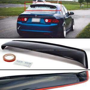 For 04-08 Acura TSX Rear Window Roof Sun Rain Shade Vent Visor Spoiler Wing