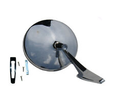 Chevy Chrome Round NO Bowtie Rear View SMOOTH Base Door Side Mirror & Hardware
