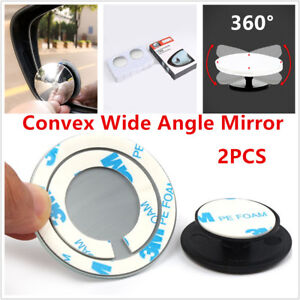 Universal Car Truck SUV Convex Wide Angle Blind Spot Mirror Rear View 50mm Dia.