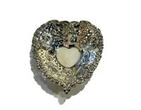 Antique,sterling Silver  Candy,mints , Heart Dish Bowl