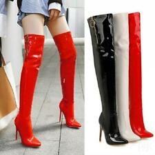 Women's Stilettos High Heels Over Knee Thigh High Boots Pointed Shoes plus sz