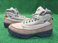wholesale dealer 3e0c0 f0dbf VINTAGE NIKE HIKING BOOTS EUC WOMENS Size 6.5 Brown Tan Leather Canvas Rare