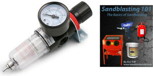 Air Compressor Regulator Filter Separator: Includes Water Trap + Free eBook