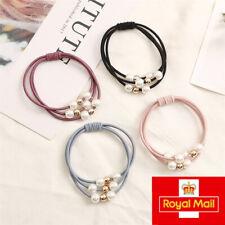 Women girl elegant fashion elastic hair bobble tie - set of 4 colours UK seller