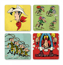 LOGOSHIRT - Comics - Lucky Luke - Wilder Westen - Untersetzer - Coaster 4er Set