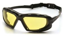 Pyramex Highlander Plus Yellow Anti Fog Safety Glasses Padded Night Driving Z87+