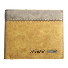 Luxury Soft Quality Mens Brown Leather Bifold Wallet Credit Card Holder Gift New