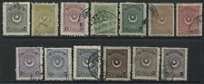 Turkey 1923 definitives various values to 100 piastres used
