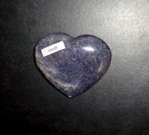 """Heart Shape LAZULITE POLISHED STONE MADAGASCAR 2-1/2"""" x 2-1/4"""" x 1/2"""""""