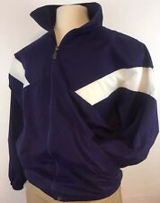 Vintage Russell Athletics Purple White Color Block Poly Mesh Lined Small Med A+