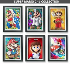 SUPER MARIO BROS Poster Collection | 6Total | 13x19 inch | Hi-Res & UV Guard