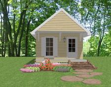 Affordable House Tiny Home Blueprints Plans 1 bedroom Cottage 390 sf PDF