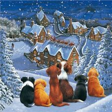 NEW Christmas Scene Jigsaw Puzzle 1000 Piece Dogs Puppies Santa Great Gift
