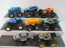 Lot 8 Diecast Toy Monster Trucks