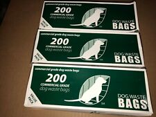Dog Waste Bags (Roll Bags) - 3 rolls (200 bags per roll) COMMERCIAL GRADE