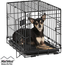 Metal Dog Cage Puppy Pet Crate Carrier Small Medium Large S M L XL XXL Folding