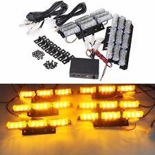 Barras 6 LED Coche Luz de rejilla lámpara de luz estroboscópica de recuperación de emergencia Auto Intermitente Ámbar