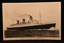 "Queen Mary ""Luxury Liner"" RPPC Postcard ""Cunard White Star R.M.S."" ""UNPOSTED"""