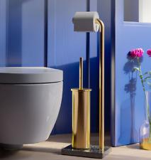 Free Standing Bath Toilet Tissue Paper Holder Stand,Toilet Brushes Holder Set