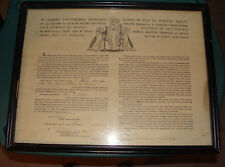 1942 Latin Church Document Apostolate of the Rosary Dominican Order O P framed