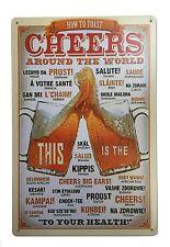 Tin signe décoration murale bar métal pub rétro plaque Poster home vintage taverne shop