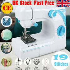 More details for 19 stitch electric portable mini sewing machine overlock 2 speed foot pedal uk