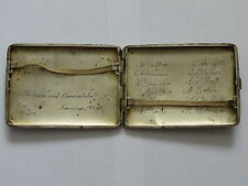 WWII German LUFTWAFFE CIGARETTE 835 Sterling SILVER Case Solid GOLD MONOGRAM #6