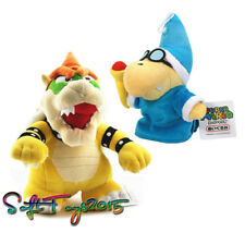 Super Mario Bros. Bowser King Koopa & Magikoopa Kamek Plush Doll Xmas Gift 2pcs