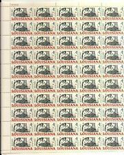 Louisiana Statehood full Sheet of 50 x 4 cents, Scott #1197 Mint, 1962