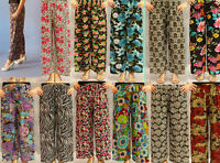 Pants Women's Casual Wear High Waist 3/4 Loose Leg 2 Pocket One Size Fit 8-16