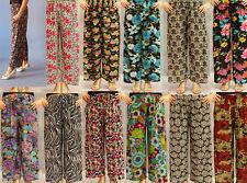 Pants Women's Casual Wear High Waist 3/4 Loose Leg 2 Pocket One Size Fit 8-16