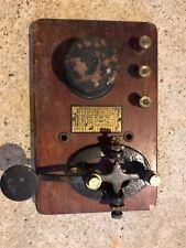 Antique International Signal Electric Mfg. Co. Telegraph Key Morse Code