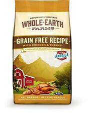 Whole Earth Farms Grain Free Chicken and Turkey Recipe Dry Dog Food, 25-Pound, N