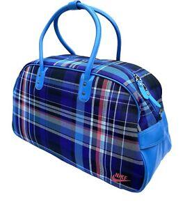 New Vintage NIKE Heritage 76 Print CLUB GYM CLUB Bag Holdall BA3185 Concord Blue