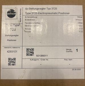 Samson 3725 Compact Electro-pneumatic Valve Positioner New In box 2020
