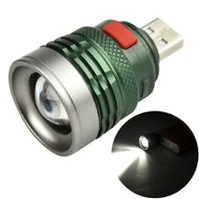 Portable USB Power Supply Flashlight LED Camping Light Mini 3Mode Torch Tactical
