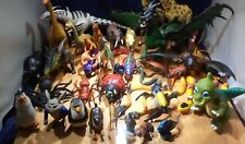Assorted Lot of 30+ Toy Plastic & Rubber Animals , Dinosaurs, Snakes & Insects