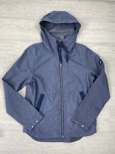 TOM TAILOR DENIM Chambray Blue Hooded Lightweight Jacket Size M