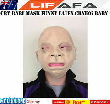 Crying Baby Face Halloween Mask Costume Cosplay Funny Latex Tears Mask Party LF