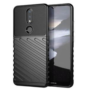 SDTEK Case for Nokia 2.4 Strong+Rugged (Black)