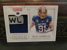 National Treasures Colossal Pro Bowl NFL Jersey Redskins Ryan Kerrigan 5/7  2013