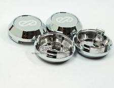4pcs 64mm Silver Wheel Center Caps Hubcaps Enkei Emblems Badges Rim Caps Logo