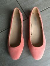 ASOS Ladies Peach Flat Suedette Ballerina Style Shoes Size 8. Great Condition.
