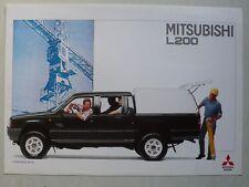 Prospekt Mitsubishi L 200 mit Hardtop, 9.1993, 2 Seiten