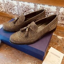 Stuart Weitzman for Russell & Bromley Embellished Loafers Size 38/5