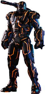 Neon Tech War Machine Iron Man 2 Movie Masterpiece Diecast Hot Toys Exclusive